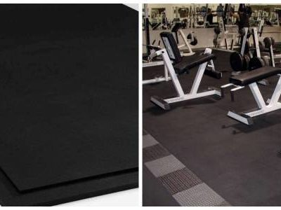 Social media use for gym and rubber laid out flooring