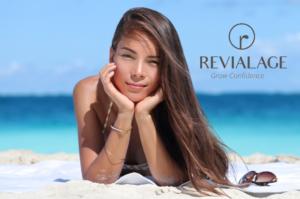 A person in a bikini on a beach Description automatically generated with medium confidence